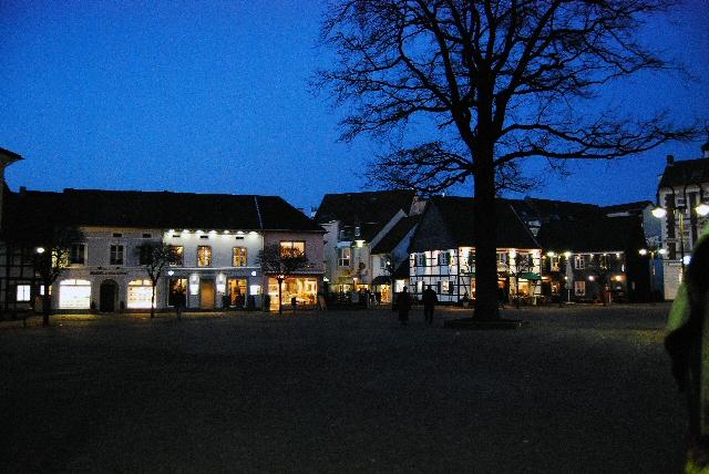 Winterabend auf dem Alten Markt, Hilden